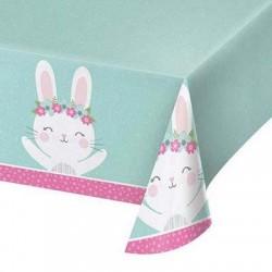 Birthday Bunny Plastic Tablecover, 1pc
