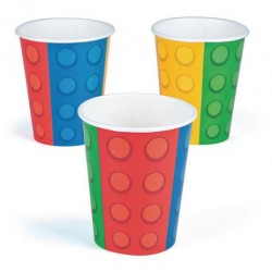 Block Party 9oz Paper Cup, 8pcs