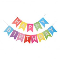 Bunting - Colorful Happy Birthday Fish Tail