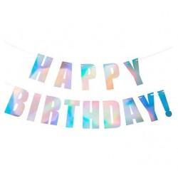 Iridescent Happy Birthday Bunting