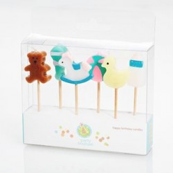 Set of 6 Candle Pick - Baby