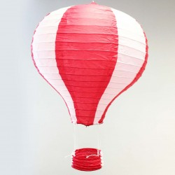 Lantern - Red & White Hot Air Balloon