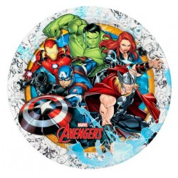 """Avengers Animated 9"""" Paper Plate, 12pcs"""