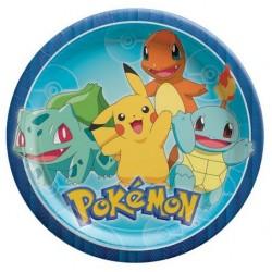 """Pokemon 9"""" Paper Plate, 8pcs"""