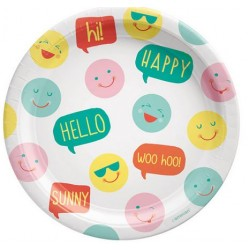"""All Smiles 9"""" Paper Plate, 8pcs"""