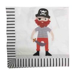 Pirate Captain Napkin 33 x 33cm, 12pcs
