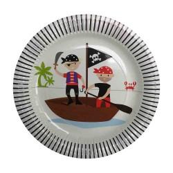 """Pirate Captain 9"""" Paper Plate, 12pcs"""