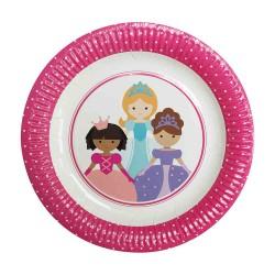 "Sweet Princess 9"" Paper Plate, 12pcs"