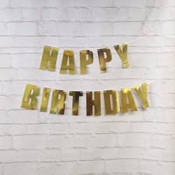 Happy Birthday Bunting Gold