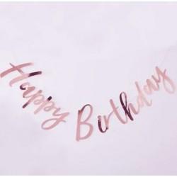 Bunting - Happy Birthday Pink