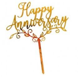 Cake Topper - Happy Anniversary