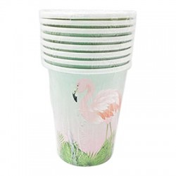 Flamingo 9oz Paper Cup, 8pcs