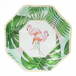 "Flamingo 7"" Paper Plate, 8pcs"