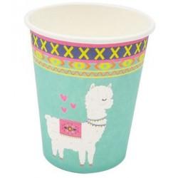 Llama 9oz Paper Cup, 8pcs