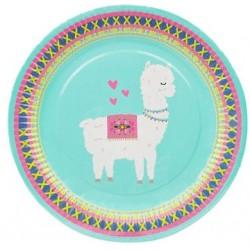 """Llama 9"""" Paper Plate, 8pcs"""