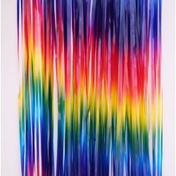 Tassel Curtain Backdrop - Colorful Rainbow