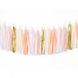 Tassel Garland - Gold Ivory Peach