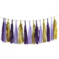 Tassel Garland - Gold Purple