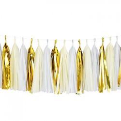Tassel Garland - Gold White Ivory