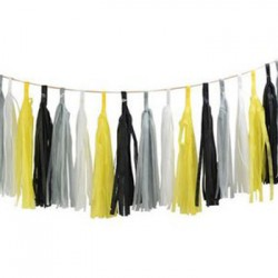 Tassel Garland - Yellow Grey Black