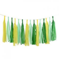 Tassel Garland - Yellow Green