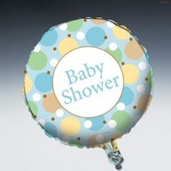 """Tiny Toes - Blue 18"""" Foil Balloon"""