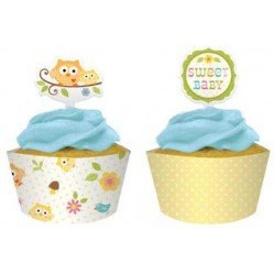 Happi Tree Cupcake Wrapper & Topper, 12 sets