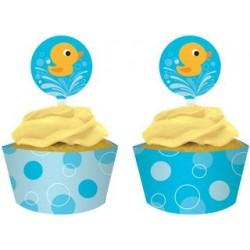 Lil' Quack Cupcake Wrapper & Topper, 12 sets