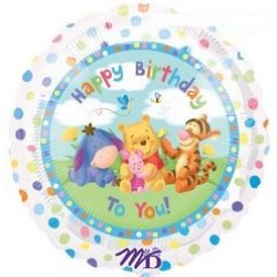 "Winnie the Pooh Group Birthday 18"" Foil Balloon"