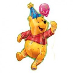 "Winnie the Pooh: Party Pooh Foil Balloon - 23"" W x 38"" H"