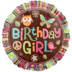 "Hippie Chick Birthday 18"" Foil Balloon"