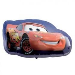 """Cars Lightning McQueen Foil Balloon - 30"""" W x 17"""" H"""