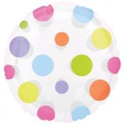 """Dots 18"""" Clear Balloon"""