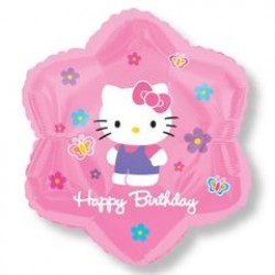 "Hello Kitty Flowers & Butterflies Birthday 18"" Foil Balloon"