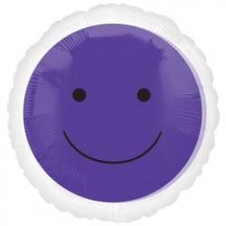 "Smiley Face 17"" Foil Balloon - Purple"
