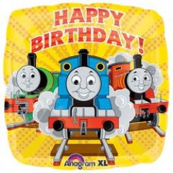 "Thomas & Friends Happy Birthday 18"" Square Foil Balloon"