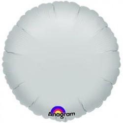 "18"" Circle Metallic Silver Foil Balloon"