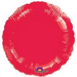 "18"" Circle Metallic Red Foil Balloon"