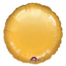 "18"" Circle Metallic Gold Foil Balloon"