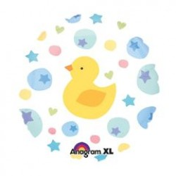 "Ducky Dots 18"" Foil Balloon"