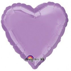 "18"" Heart Pearl Lavender Foil Balloon"