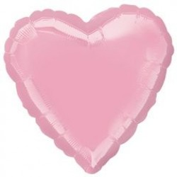"18"" Heart Iridescent Pearl Pink Foil Balloon"