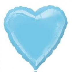 """18"""" Heart Iridescent Pearl Lite Blue Foil Balloon"""