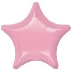 "19"" Star Iridescent Pearl Pink Foil Balloon"