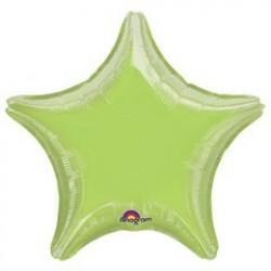 """19"""" Star Iridescent Lime Green Foil Balloon"""