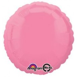 "18"" Circle Bright Bubble Gum Pink Foil Balloon"