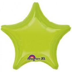 "19"" Star Kiwi Green Foil Balloon"