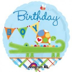 "Ahoy Birthday Boy Alligator 18"" Foil Balloon"