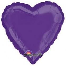 """18"""" Heart Purple Foil Balloon"""