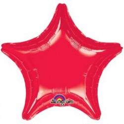 "19"" Star Metallic Red Foil Balloon"